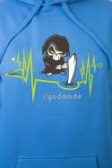 náhled - Boží zásah modrá pánska mikina