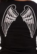 náhled - Krídla čierne dámske tričko