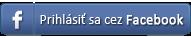 Přihlásiť sa cez Facebook