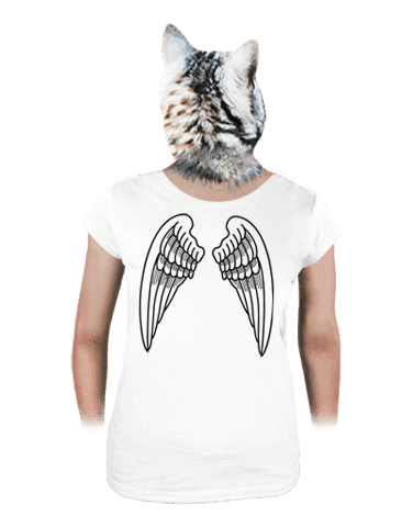 Krídla biele dámske tričko