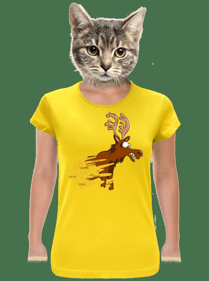 Stierací los žlté dámske tričko