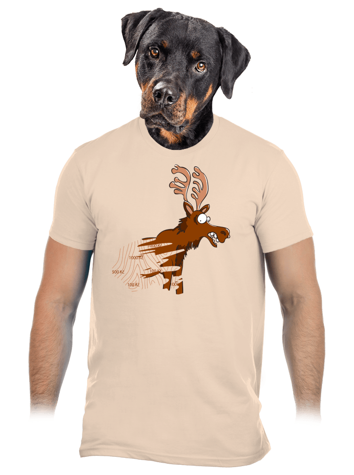 Stierací los hnedé pánske tričko