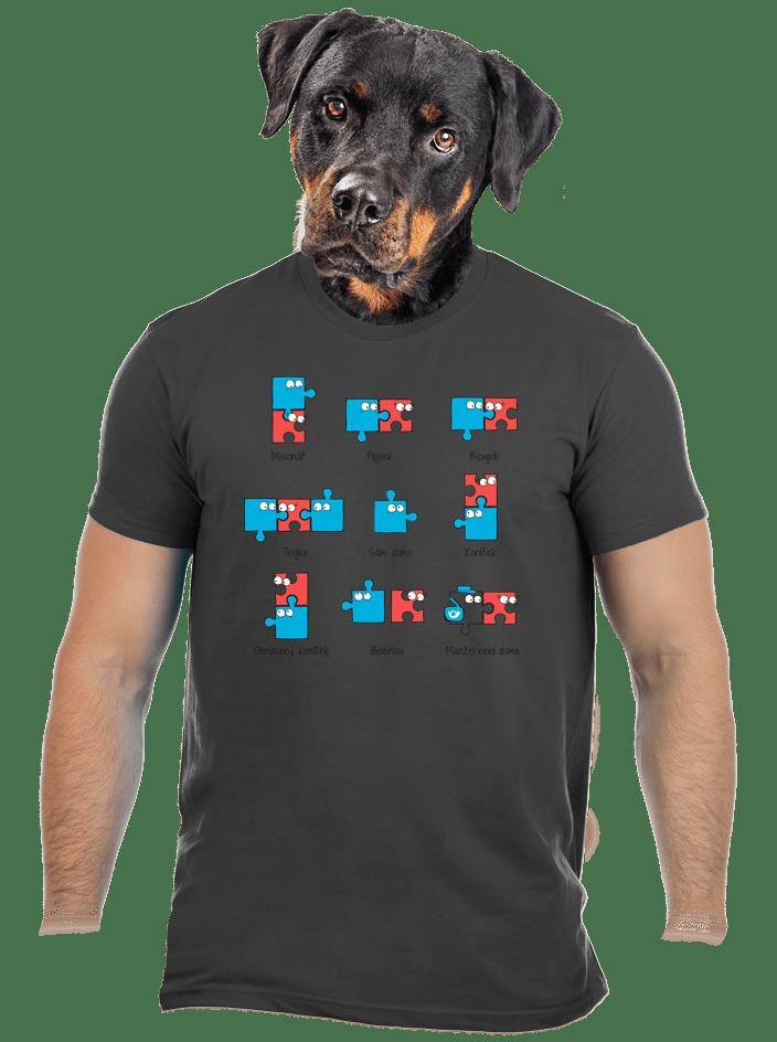 Puzzlesútra šedé pánske tričko