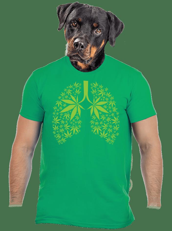 Ganja pľúca pánske tričko
