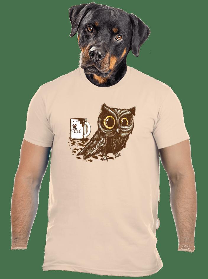Sova na kofeínu pánske tričko