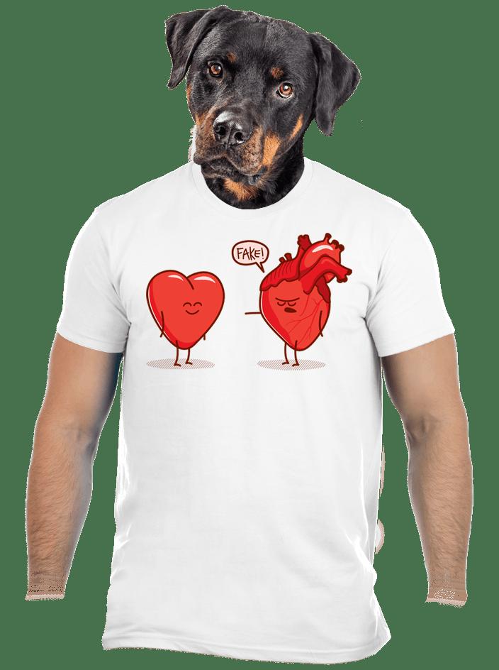 Srdcová záležitosť biele pánske tričko