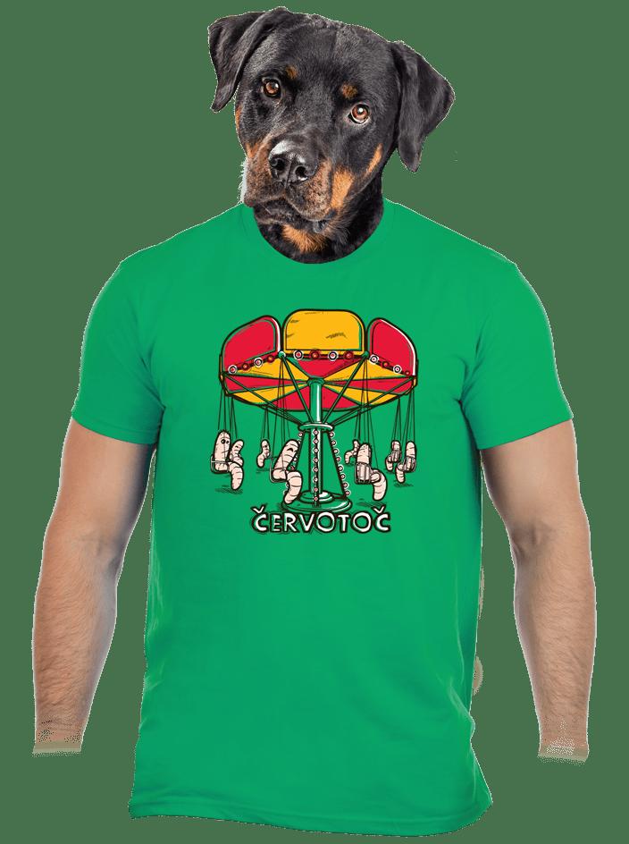 Červotoč zelené pánske tričko