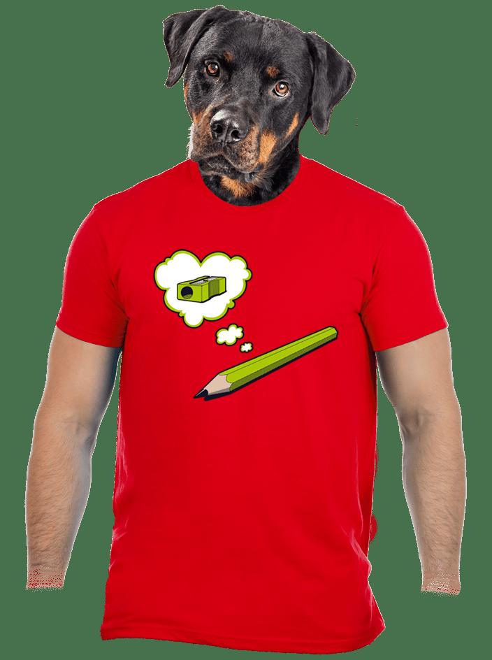 Ceruzka červené pánske tričko