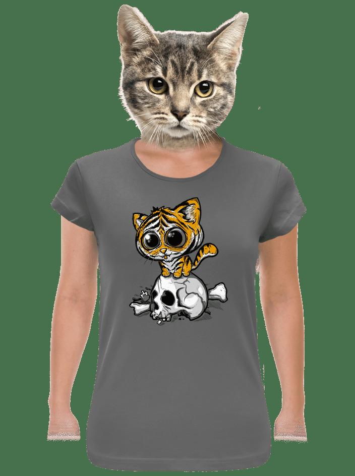 Tigrík šedé dámske tričko