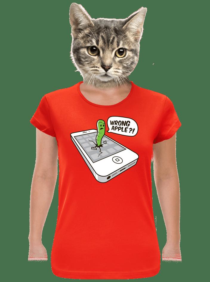 Wrong Apple červené dámske tričko