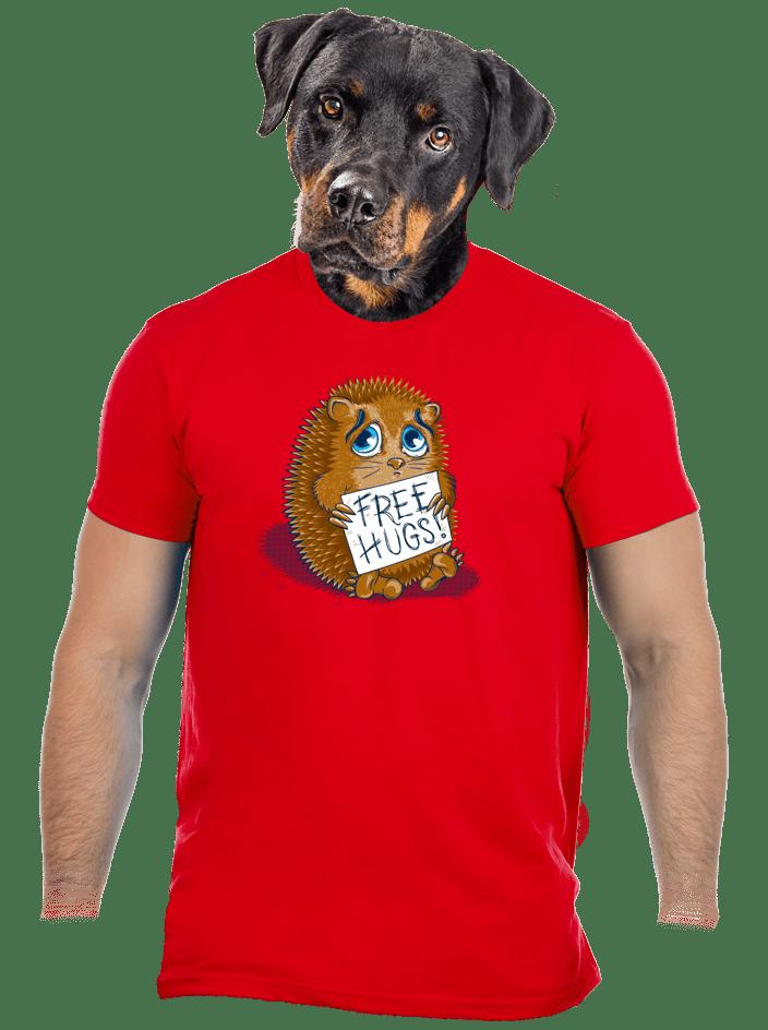 Objatie zadarmo červené pánske tričko
