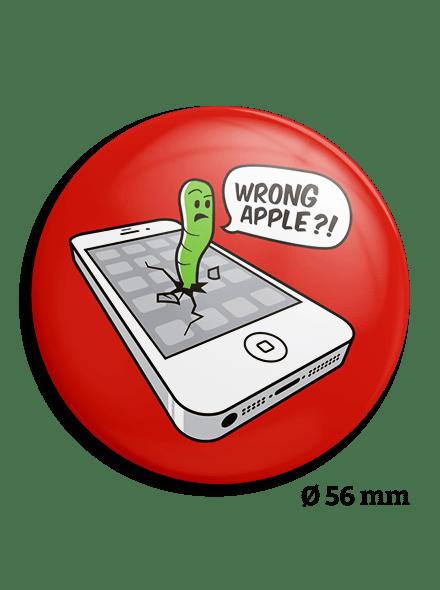 Veľká placka Wrong Apple
