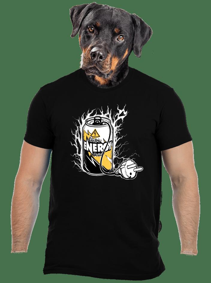 Energy drink čierne pánske tričko