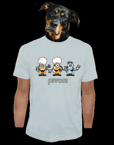 Pivoni šedé pánske tričko
