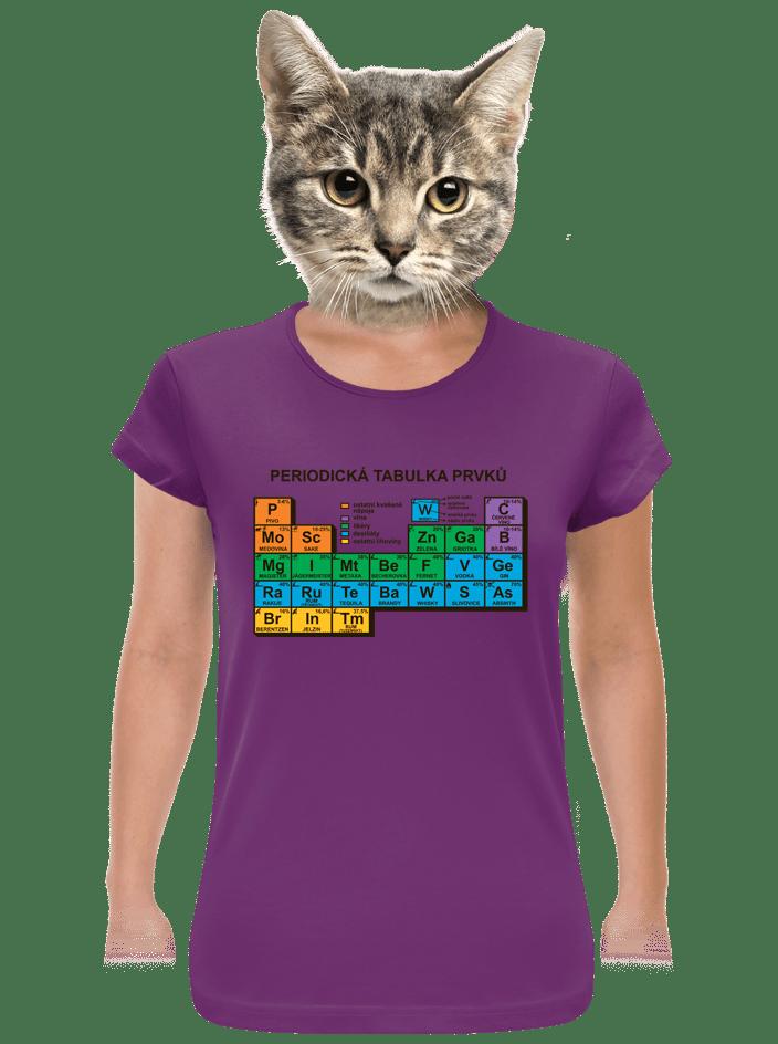 Periodická tabuľka fialové dámske tričko