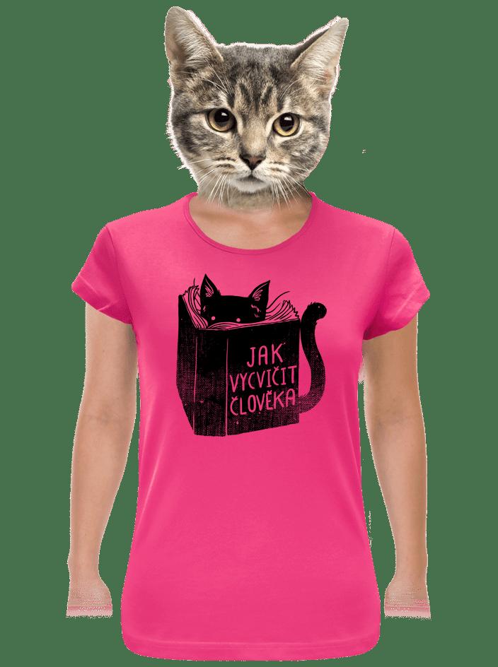 Povinná četba fuchsiové dámske tričko
