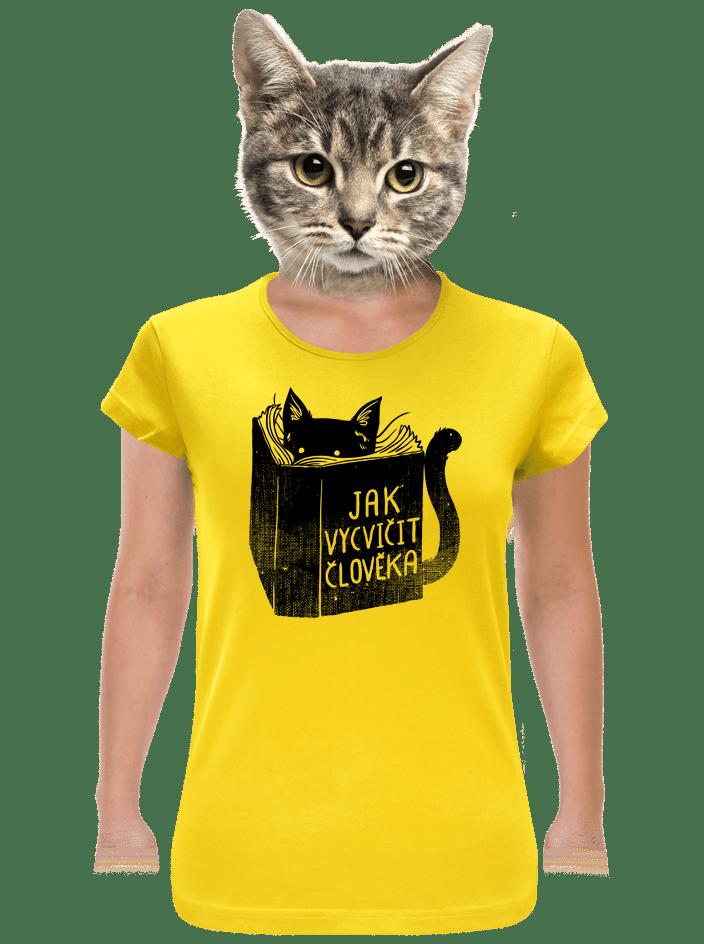 Povinná četba žlté dámske tričko