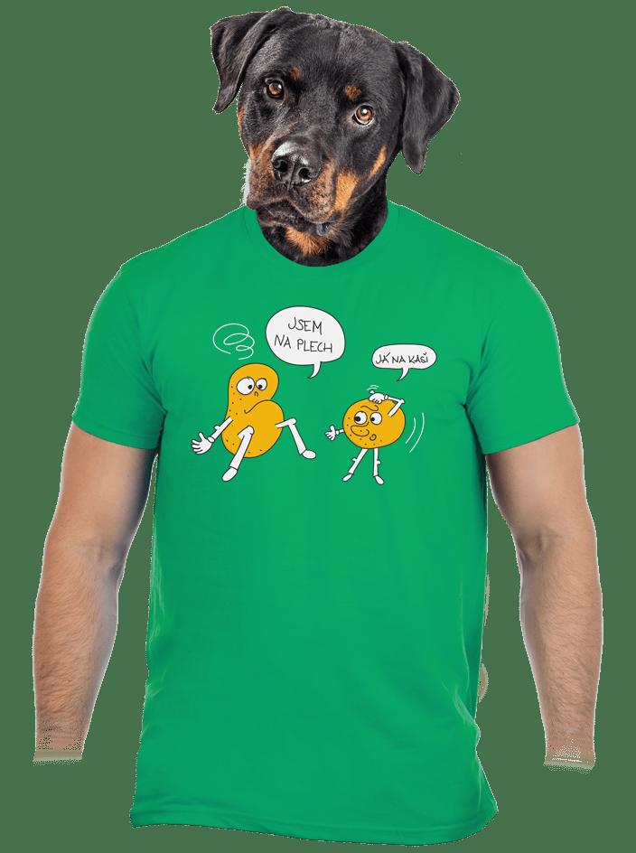 Opité zemiaky zelené pánske tričko