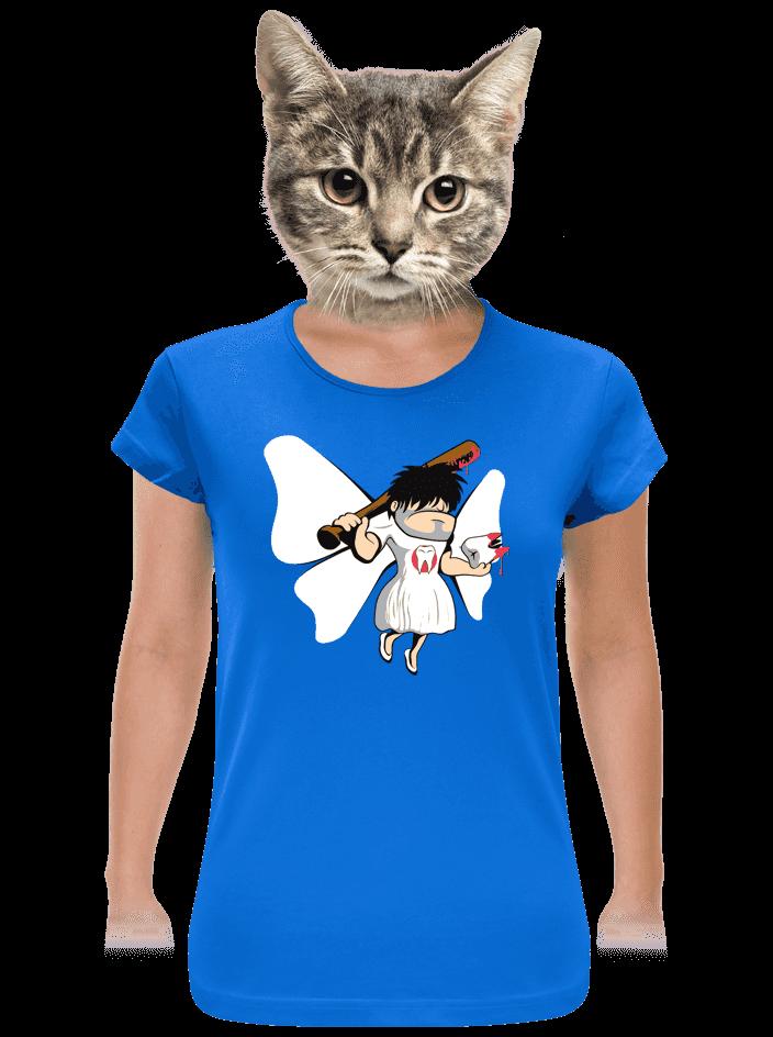 Zúbková víla modré dámske tričko