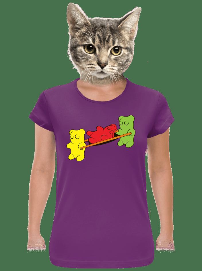 Gumkáči fialové dámske tričko