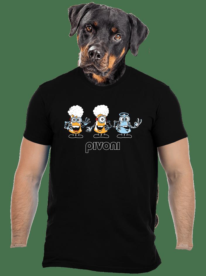 Pivoni čierne pánske tričko