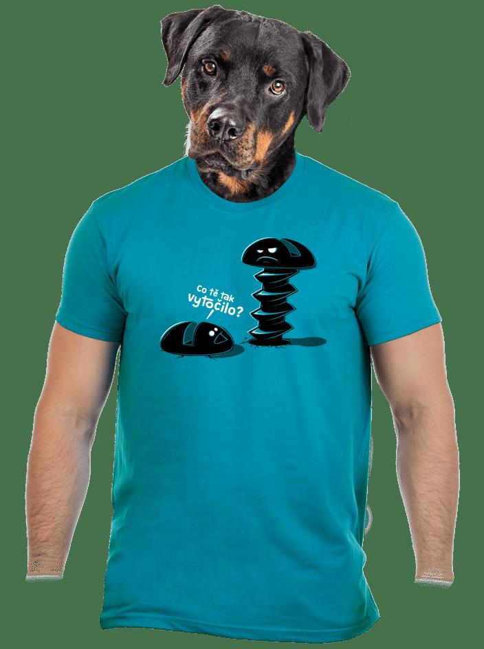 Vytočený modré pánske tričko