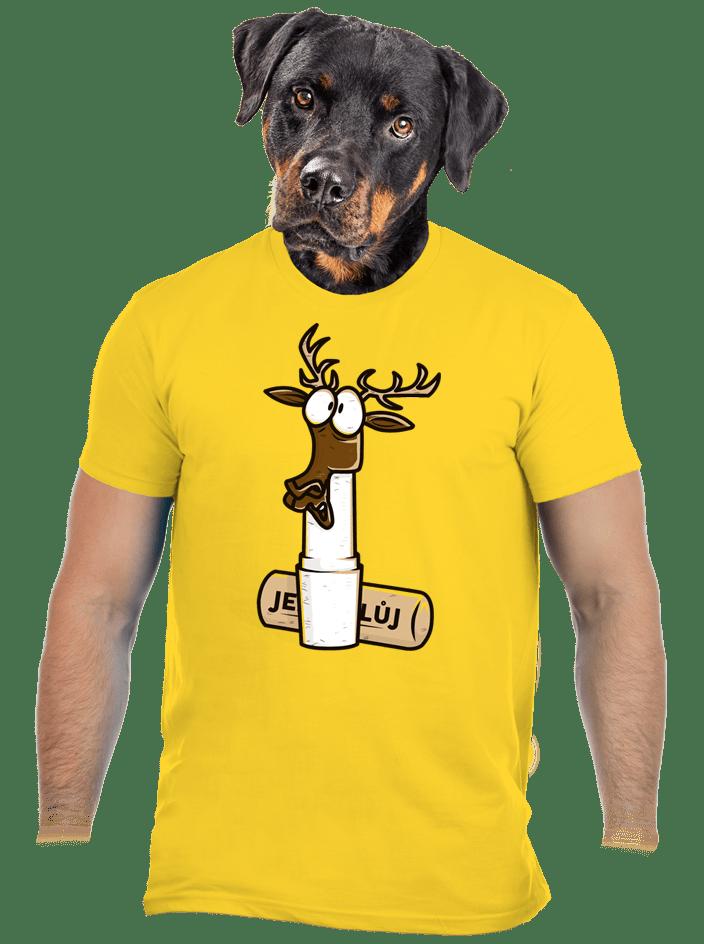 Jelení lůj žlté pánske tričko