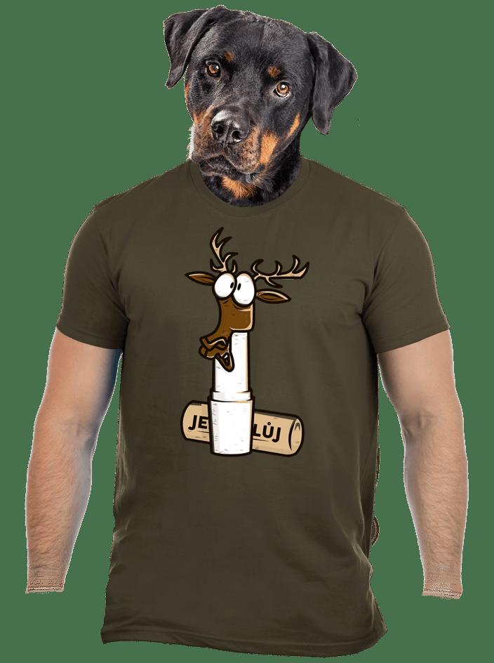 Jelení lůj zelené pánske tričko
