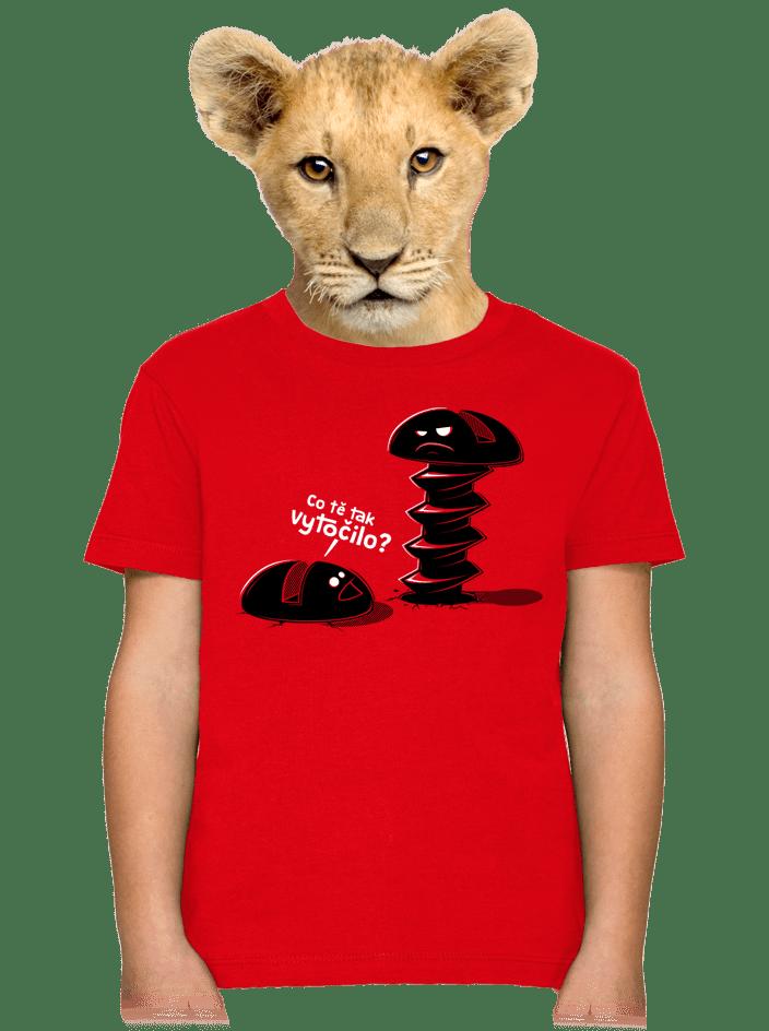 Vytočený detské tričko
