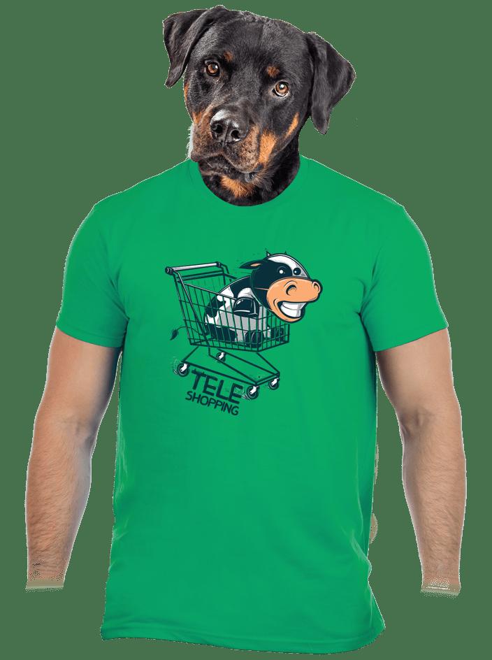 Teleshopping zelené pánske tričko