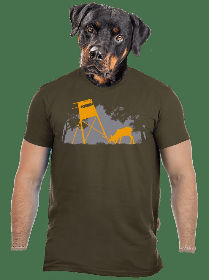 Lesná harmónia khaki pánske tričko