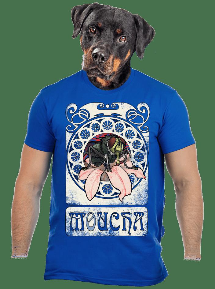Moucha kráľovsky modré pánske tričko