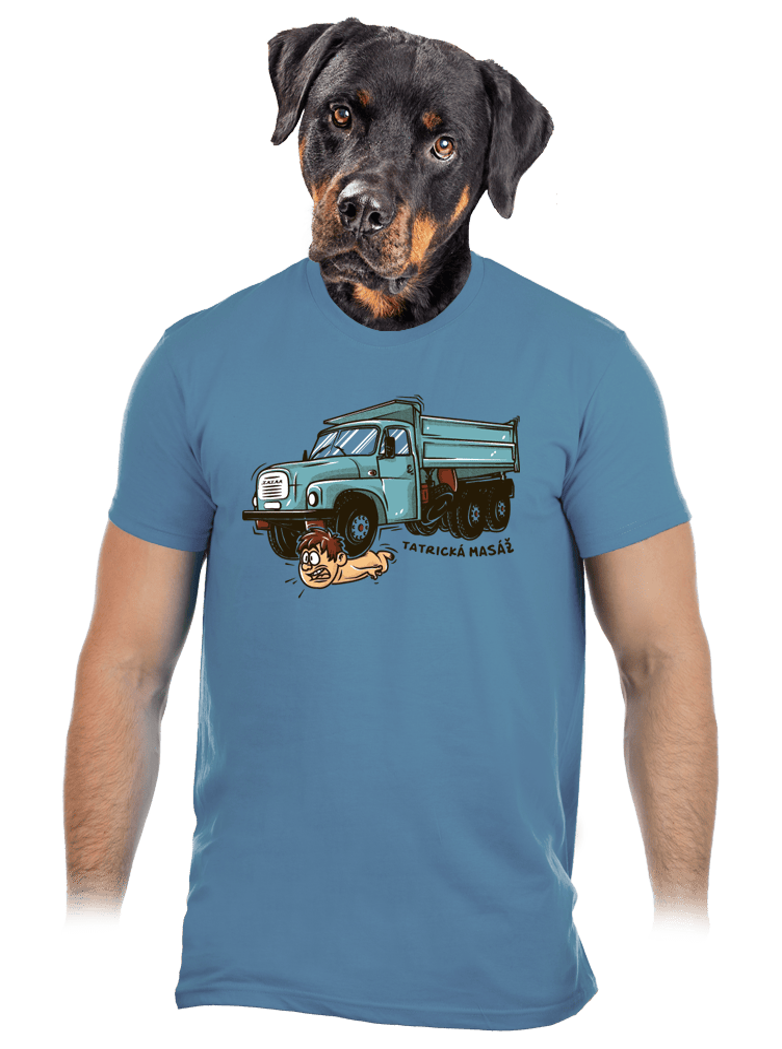 Tatrická masáž modré pánske tričko