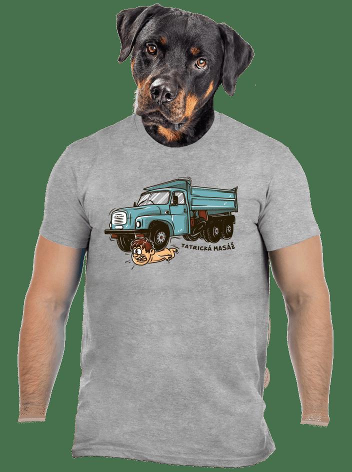 Tatrická masáž šedé pánske tričko