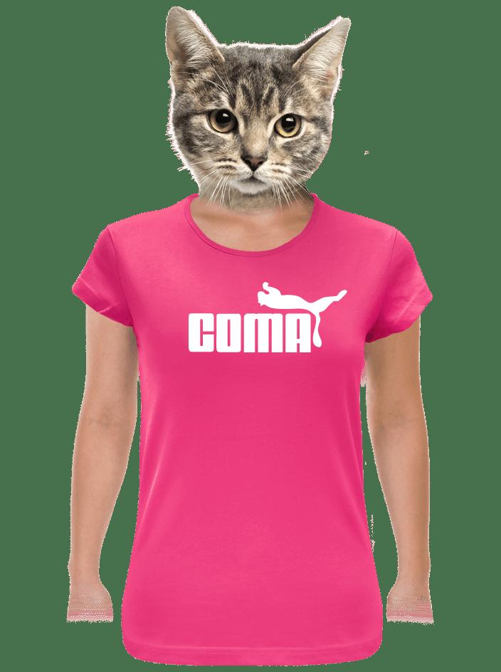 Coma fuchsiové dámske tričko