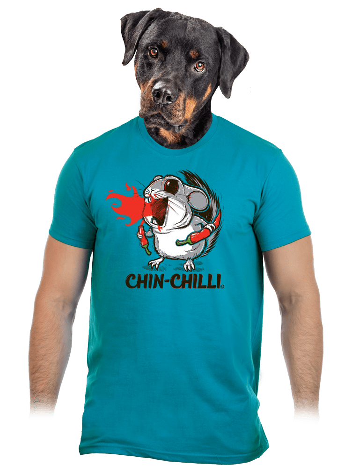 Chinchilli modré pánske tričko