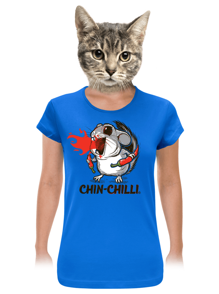 Chinchilli modré dámske tričko