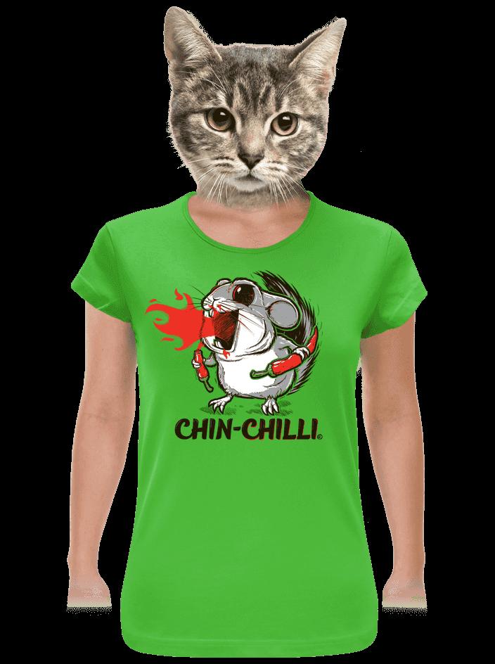 Chinchilli zelené dámske tričko