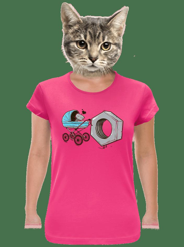Správna matka fuchsiové dámske tričko