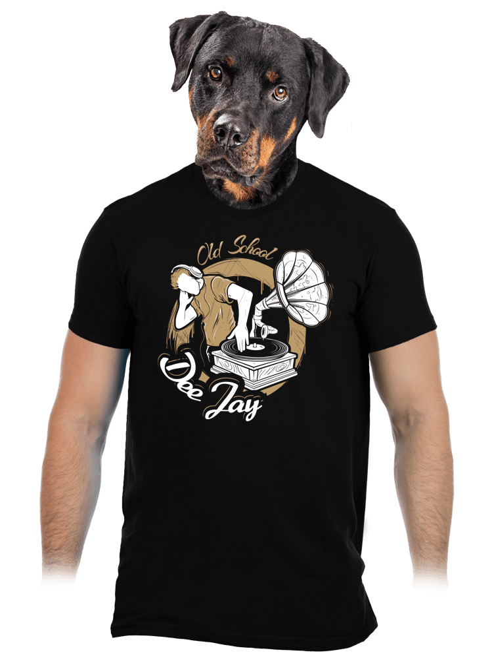 Old school DJ pánske tričko