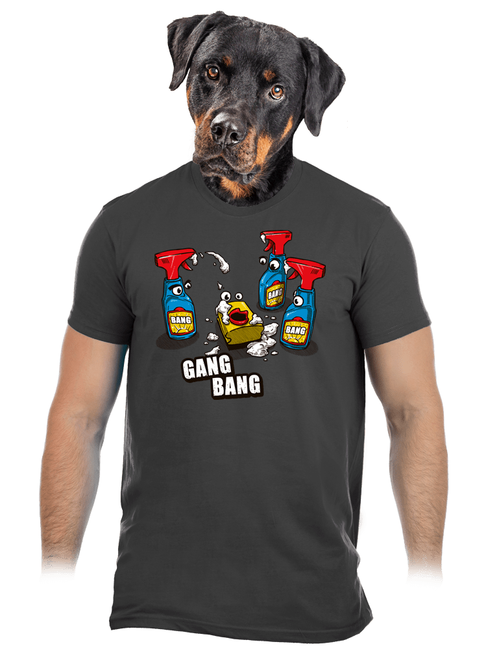 Gang Bang šedé pánske tričko