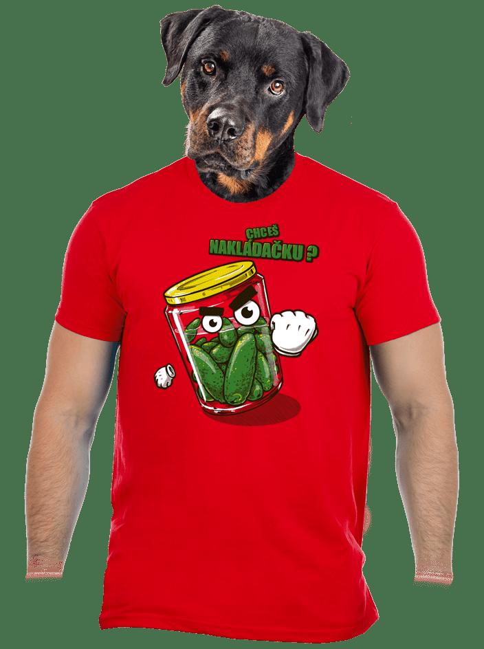 Nakládačka červené pánske tričko
