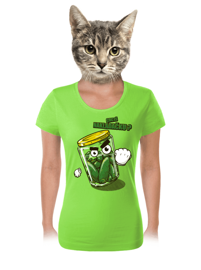 Nakládačka zelené dámske tričko