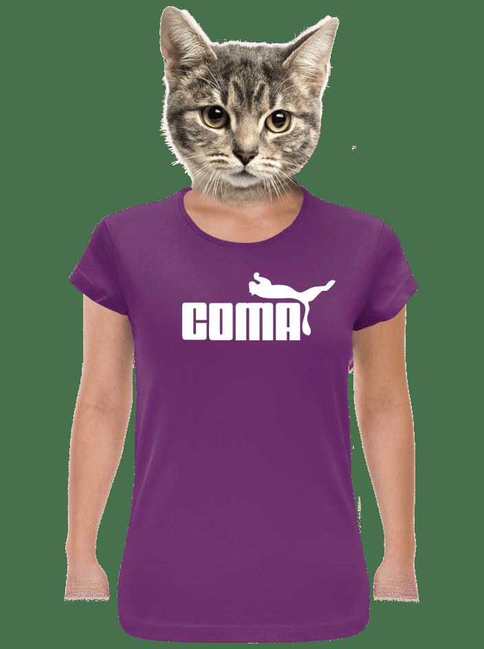 Coma fialové dámske tričko