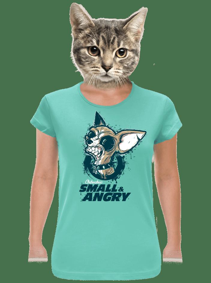 Čivava zelené dámske tričko