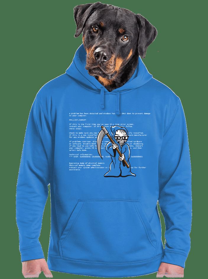 Modrá smrť pánska mikina