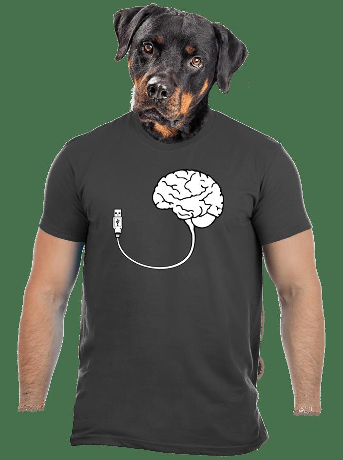 USB mozog šedé pánske tričko