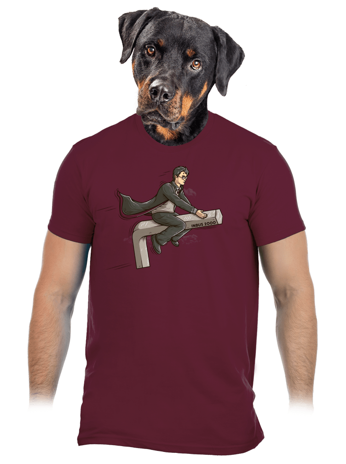 Harry na inbuse vínové pánske tričko