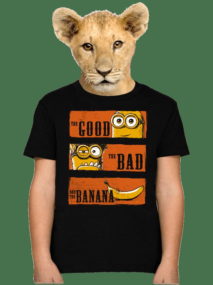Hodný zlý a banán detské tričko