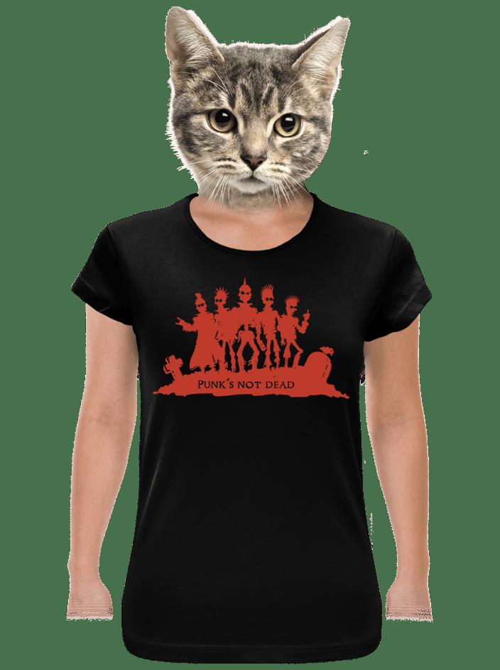 Punk's Not Dead dámske tričko